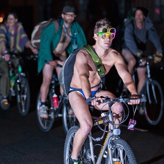 The Views from a New Oregonian: Portland's World Naked Bike Ride