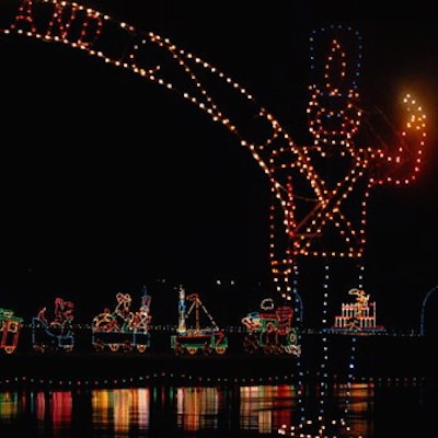 GoLocalPDX Downtown Portland Dresses For The Holidays In Ugly  - Portland International Raceway Christmas Lights