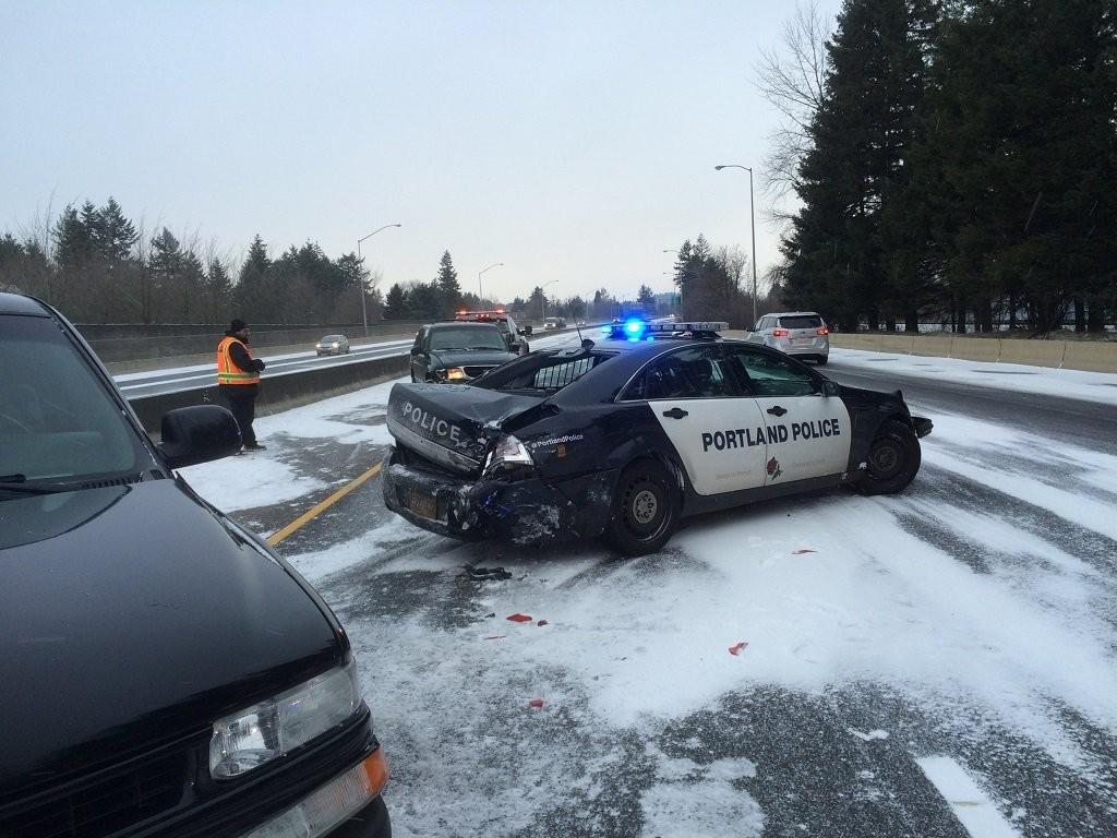 GoLocalPDX | Car Smashes into Portland Police Bureau Cruiser